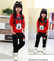 The new children's cartoon girl in the spring and summer clothes suit children cotton casual sports coat