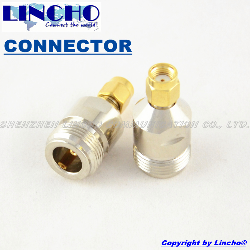 10 pcs rf n female to rp SMA Male Straight adapter connector for WIFI router antenna