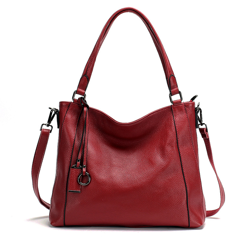 Luxury Brand Genuine Leather Women Tote Bag Large Capacity Women Leather Handbag Solid Casual Female Shoulder