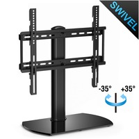 Fitueyes Universal TV Stand Base Swivel Tabletop TV Stand with mount for 32 inch to 50 inch Flat screen Tvs/xbox One/tv Componen