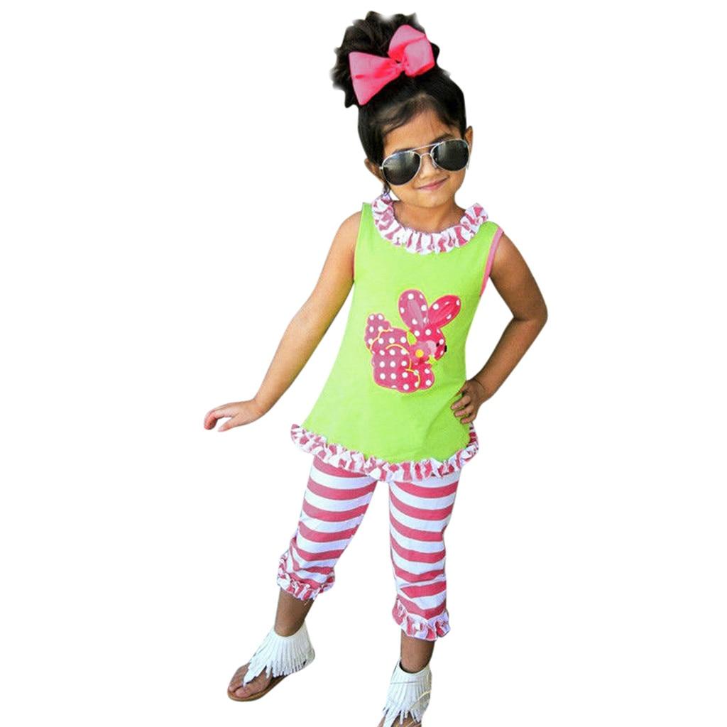 MiniKidz Girls 2 Piece Sleeveless Top /& Leggings Set