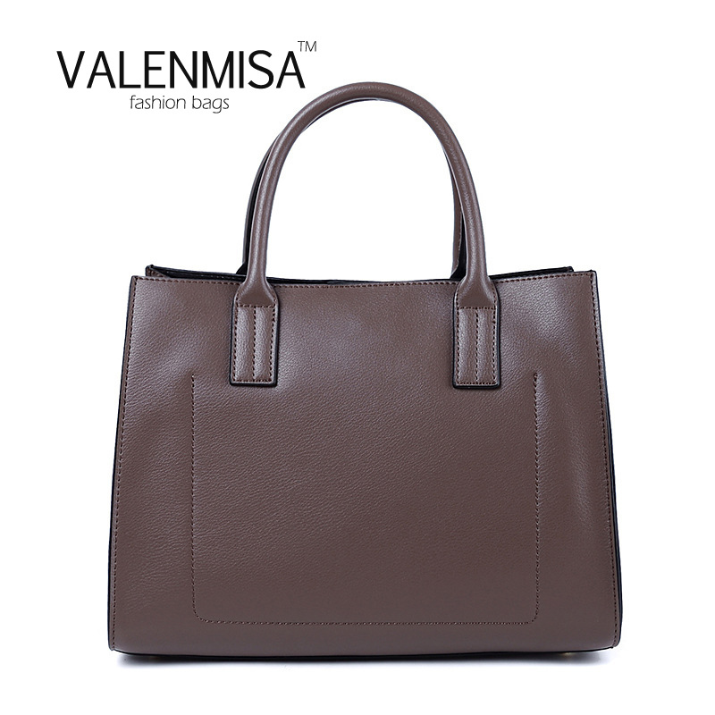 Europe Fashion Genuine Leather Briefcase 2018 Luxury Handbag Women Bags Designer Casual Tote Bag VALENMISA Vintage Crossbody Bag