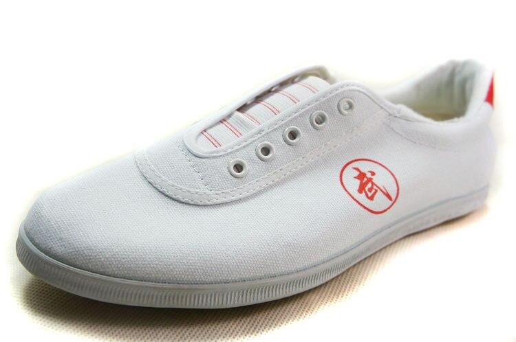 Высокое качество тай-чи Обувь ребенка в школу белые спортивные Обувь Боевые искусства Для мужчин Для женщин Тайцзи Wu Шу обуви кунг-фу 5 видов цветов - Цвет: WHITE 2