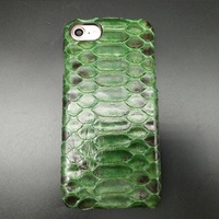 Solque Luxury Python Skin Genuine Leather Cover Case For iPhone 7 Plus Cell Phone Ultra Thin Hard 3D Snake Phone Cases Green