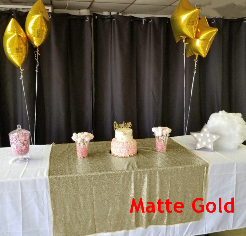 Matte Gold tablecloth 90x132in Glitter Round Rectangular Embroidered Sequin Table cover for Wedding Party Christmas Decor 9525 in Tablecloths from Home Garden