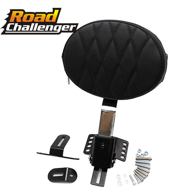 Motorcycle Plug In Driver Backrest Pad Cushion Detachable Adjustable For Harley Fatboy Heritage Softail 2007-2017