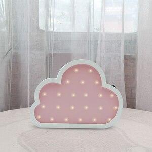 Image 4 - جميل يونيكورن البومة سحابة شجرة LED ثلاثية الأبعاد ضوء الليل ضوء لطيف الاطفال هدية لعبة طفل الأطفال غرفة نوم الديكور مصباح إضاءة داخلية