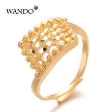 WANDO Ethiopian Gold Color Wedding Ring Women girl Nigerian Somali African Fashion Ring Middle East Jewelry gift girl friend R63 somali piracy
