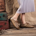 Leather Soft Bottom Shoes Pregnant Women Shoe Mother Driving Shoe Female Moccasins Loafers Cow Muscle Outsole Casual Shoes Flats