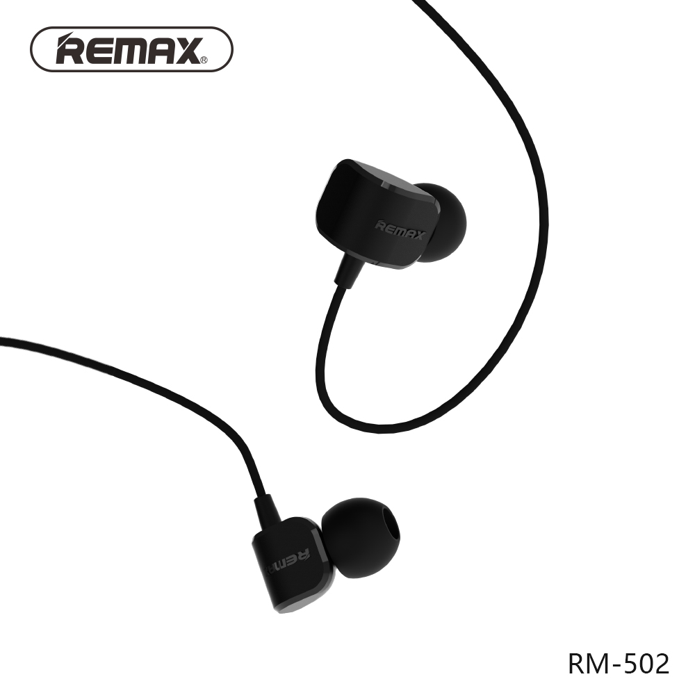 Original Remax RM-502 Stereo Music Earbuds 3.5mm In Ear HiFi Bass Wired Earphone Noise reduce Headset with HD Mic for iphone гарнитура remax rm 502 blue
