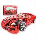 Decool bloques de construcción coche de juguete 1:10 modelo supercar 599gtb f1 racing bloques assemblage juegos cerebro