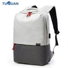 Tuguan Women Men Laptop Notebook Backpacks Brand 15.6 Backpack Casual School College Student Bag External USB Charge Unisex Bags