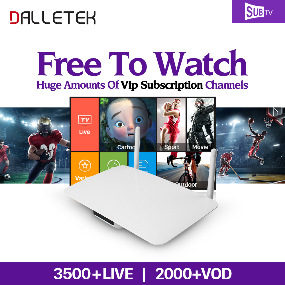 Dalletektv Q1404 Android IPTV Set Top Box Europe Arabic 3500 IPTV Channels French Italia Holland SUBTV IPTV Code Abonnement x92 android iptv box s912 set top box 700 live arabic iptv europe french iptv subscription 1 year iptv account code