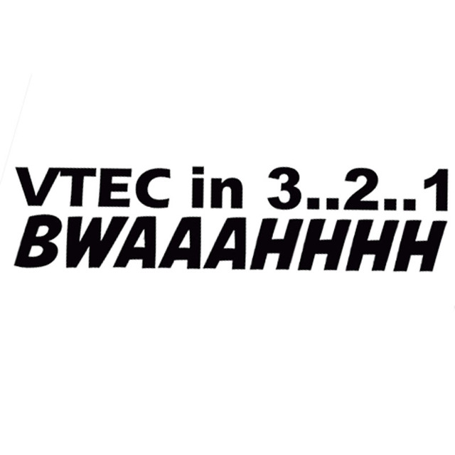 14 33 5cm vtec in 3 2 1 bwaaahhhh funny letter car styling decal fashion