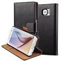 Carteira virar pu leather case para samsung galaxy s6 g9200 coque luxo saco do telefone com suporte + portadores de cartão de cobertura para samsung S6