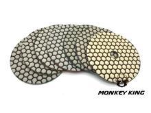 цена на 5'' Inch 125mm Dry Diamond Polishing Pads for Granite Marble Quartz 50 100 200 400 800 1500 3000