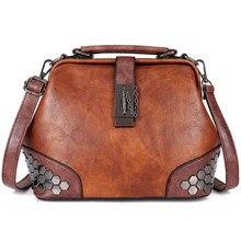 f2a477fb114f Женская сумка кожаная маленькая сумка-доктор Женская сумка через плечо  женская сумка через плечо сумка