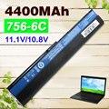 4400 мАч Батарея для Acer Aspire One 756 725 V5-171 TravelMate B113 B113M С7 C710 B113-M AL12X32 AL12A31 AL12B31 AL12B32