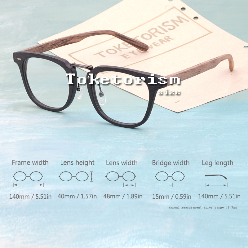 Toketorism Buatan Serat Kayu mode kacamata optik bingkai pria wanita - Aksesori pakaian - Foto 3