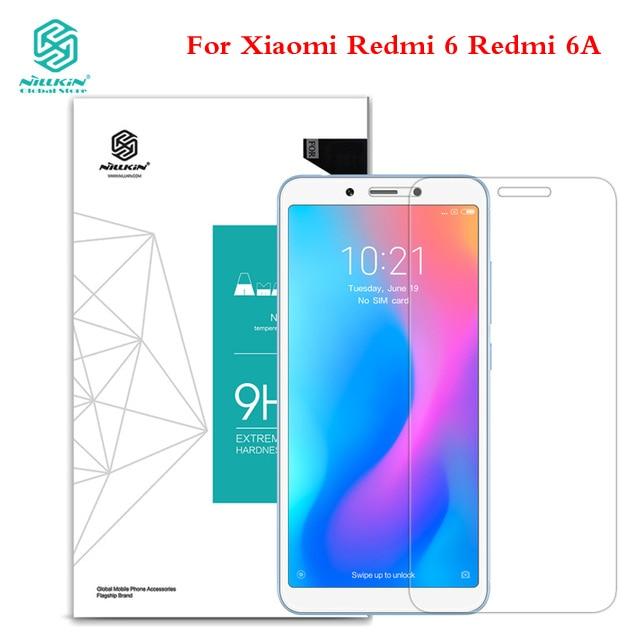 For Xiaomi Redmi 6A Tempered Glass Screen Protector For Xiaomi Redmi 6 Nillkin Amazing H 9H Anti-burst Protective Film