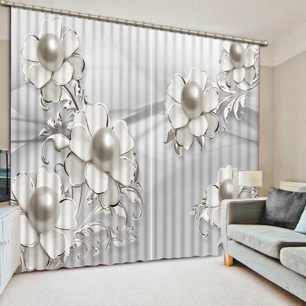 3d шторы простые драгоценные цветочные шторы для гостиной спальни на заказ любой размер окна роскошные шторы
