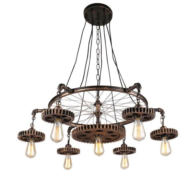 Loft Stil Pendelleuchten Getriebe Suspension Leuchte Edison Leuchten