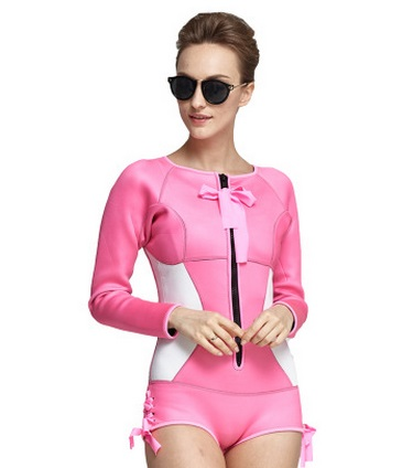 SBART New Neoprene Scuba Wetsuit 2MM One Piece Swimsuit Rashguard Women Diving Suit Surfing Beach Wear Long Sleeve Bathing Suits sbart upf50 rashguard 2 bodyboard 1006
