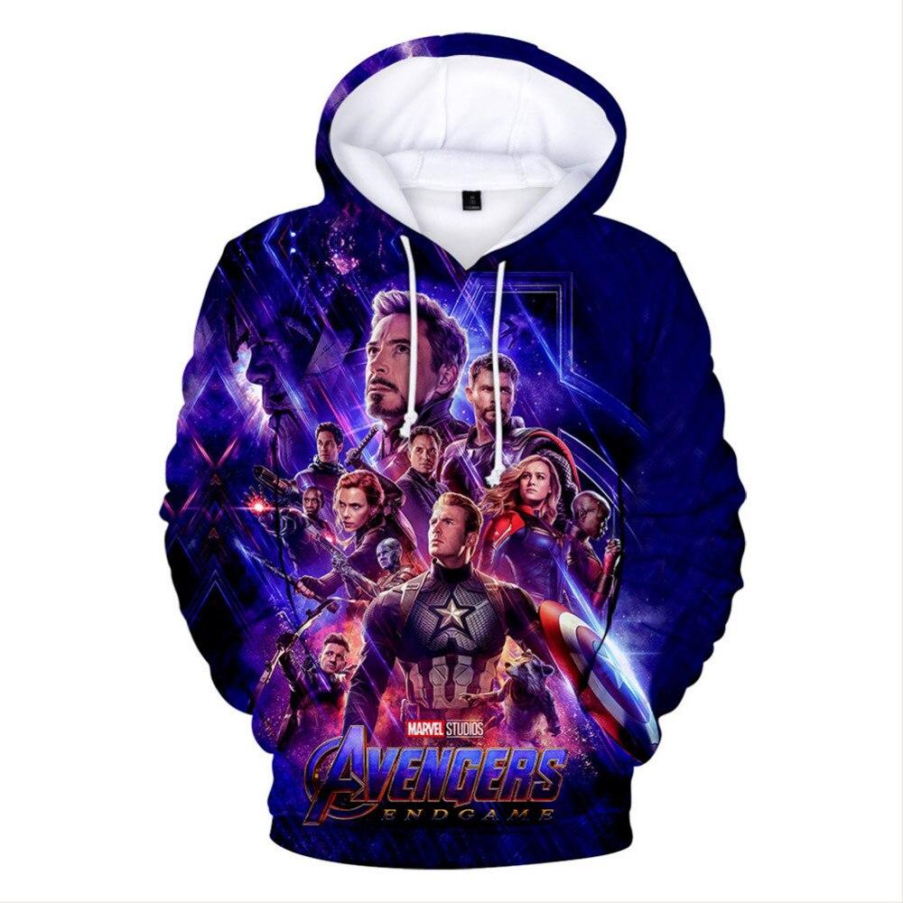 Marvel Avengers Endgame Hoodies 3D digital printing men's hoodie Hooded Jacket Sweatshirts For Men Women