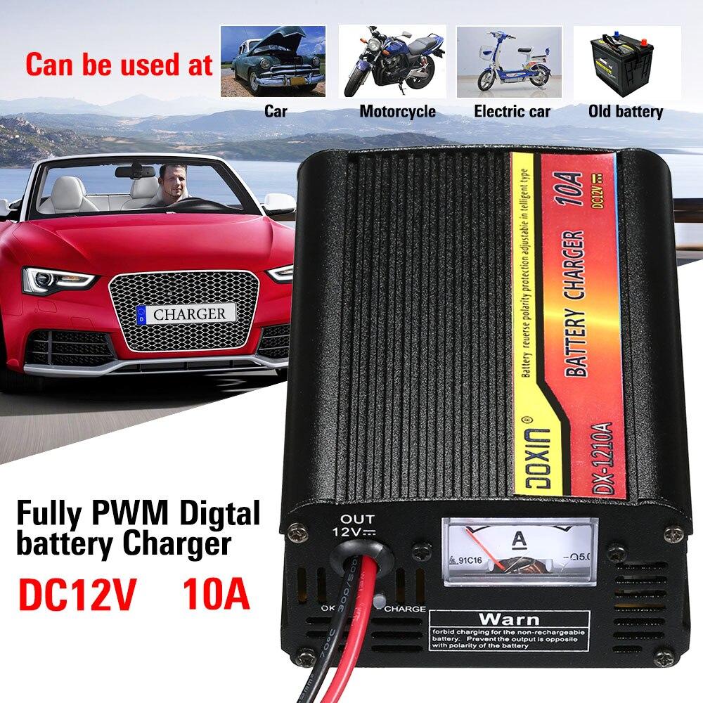12 V 10A Léger LCD Affichage Intelligent Rapide Batterie De Voiture Chargeur Responsable