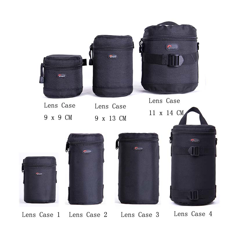 Fast shipping New Lowepro Lens Case Bag waterproof photo pouch For Standard Zoom Lens Black сумка lowepro event messenger 100 black