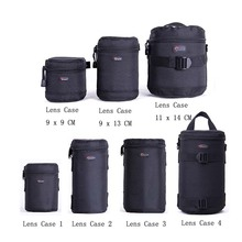 Fast shipping  New Lowepro Lens Case Bag waterproof photo pouch For Standard Zoom Lens Black