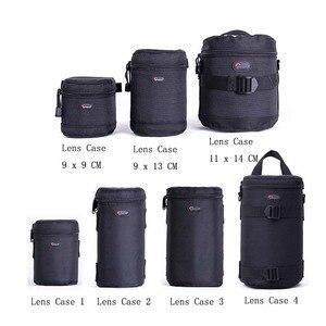 Image 1 - Hızlı kargo yeni Lowepro Lens çantası çantası su geçirmez fotoğraf çantası standart Zoom objektifi siyah