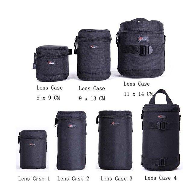 Hızlı kargo yeni Lowepro Lens çantası çantası su geçirmez fotoğraf çantası standart Zoom objektifi siyah