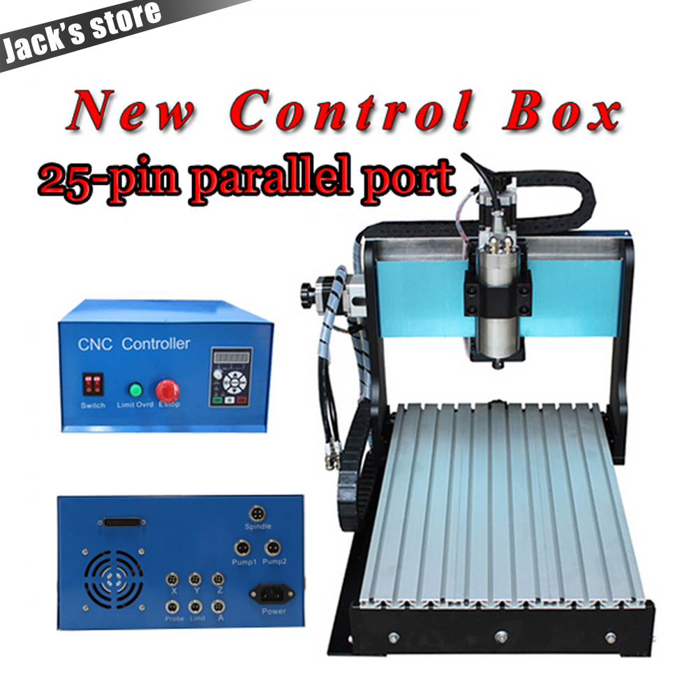 25-pin parallel port! 3040Z-S++ ,CNC3040 800W Spindle +1.5kw VFD CNC Router water-cooling   Metal engraving machiney cnc machine wood router lathe cnc machine 3040 4030 with ball screw 800w vfd water cooling spindle