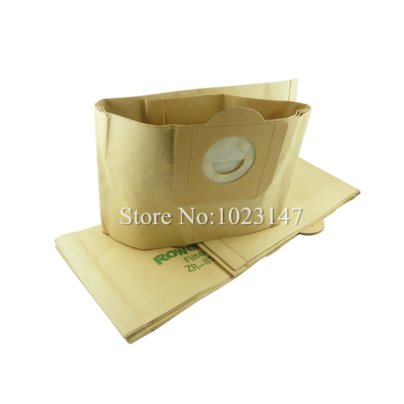 Wholesale ! 5 pieces/lot Vacuum Cleaner Parts Dust Big Capacity Bags Paper Filter Bag For Rowenta ZR814 RU020 RU1113 RU01 RU07 5 pcs lot vacuum cleaner parts filter garbage bag paper dust bags for electrolux zw1100 e37 e39 z2570 e16 ingenio