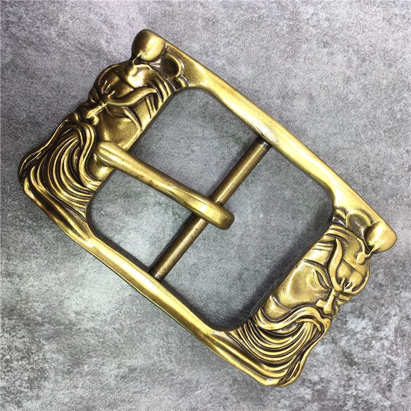 Chinese Style Brass Belt Buckle Classical Guan Yu Belt Buckle High Quality Belt Buckle For Man Belt Leather BK0115