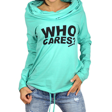 Women Hoodie Casual Hooded Print Letter Pocket Long Sleeve Pullover For