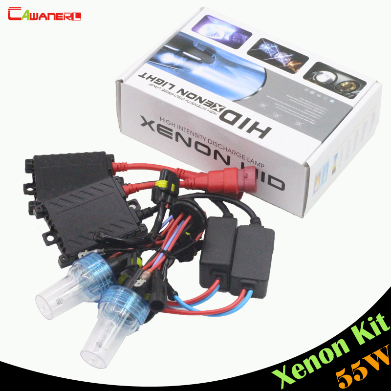 Cawanerl 55W H1 H3 H7 H8 H9 H11 9005 HB3 9006 HB4 880 881 HID Xenon Kit Ballast Lamp 3000K-8000K Car Headlight Fog Light DRL buildreamen2 55w 9005 9006 h1 h3 h7 h8 h9 h11 880 881 hid xenon kit ac ballast bulb 10000k blue car headlight lamp fog light