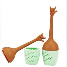 Silicone Tea Infuser Hand Gesture Tea Fliter Tea Bag Reusabl