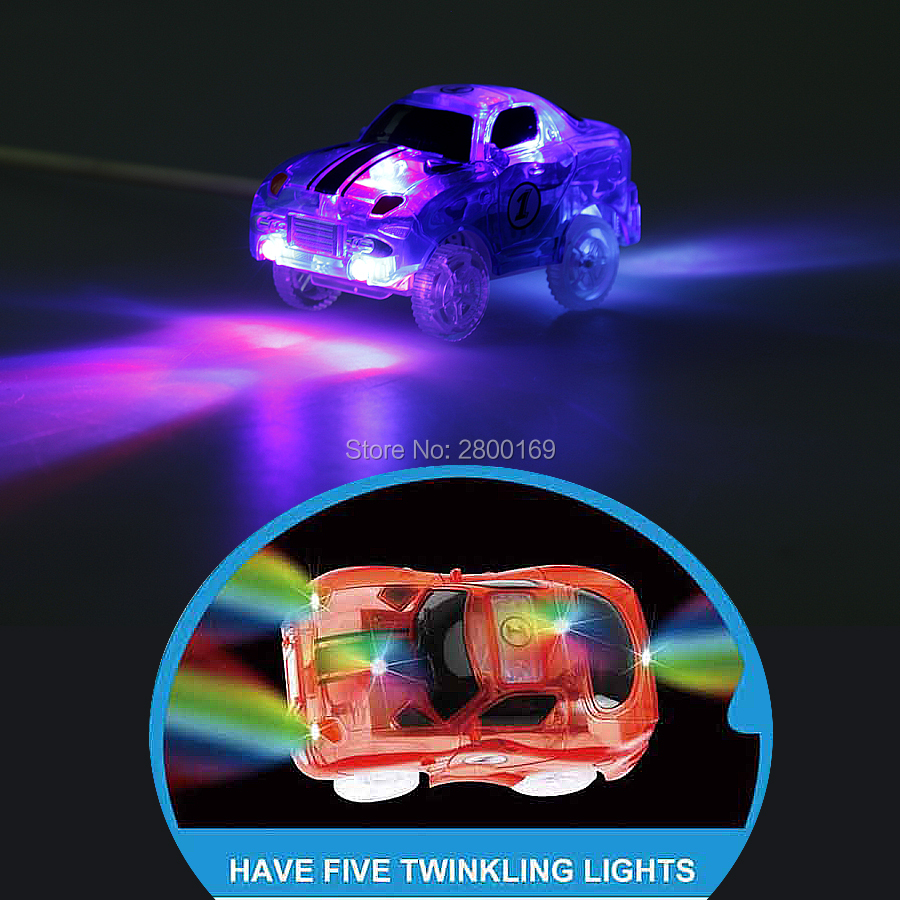 DIY-Slot-Create-A-Road-Glow-race-track-Bend-Flex-Glow-in-the-Dark-Assembly-Toy-Flexible-Track-166225PCS-with-5-Led-light-cars-5