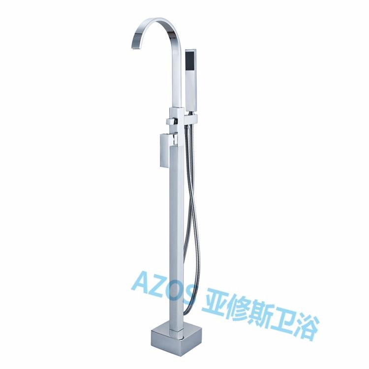 Bathtub Faucets Luxury Waterfall Spray Water Mixers Floor Stand Hand Hold  Bathroom Shower Sauna Kit LDTZ004
