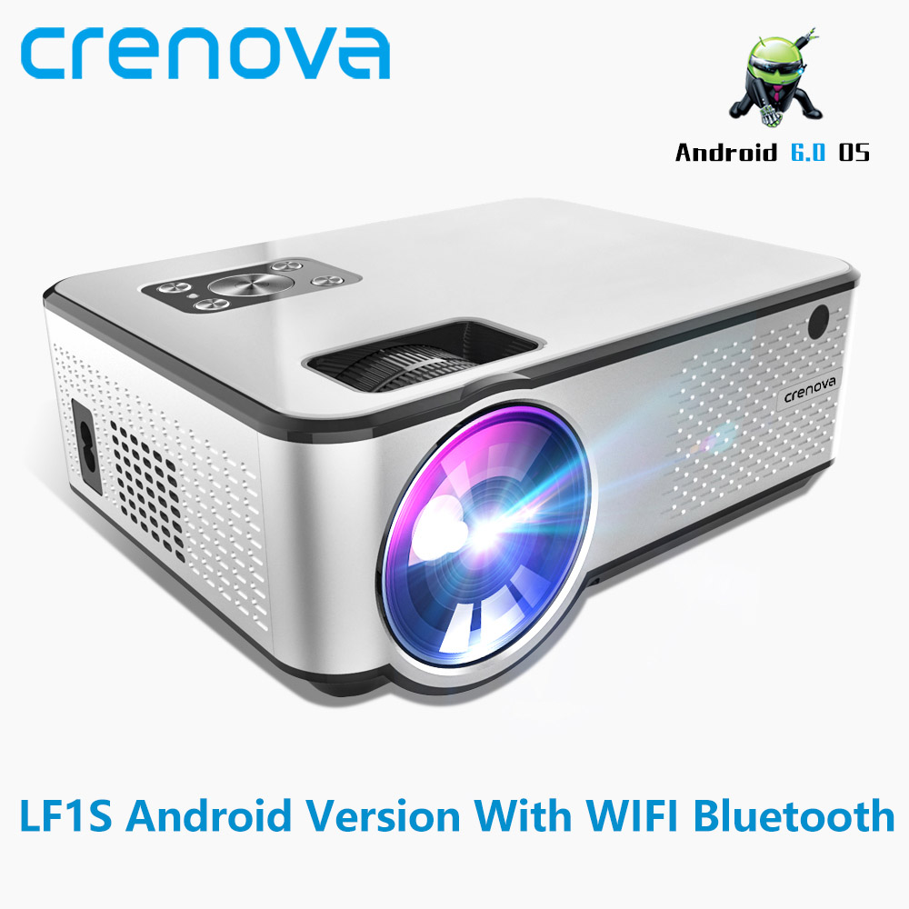 US $113 29 35% OFF|CRENOVA 2019 Newest Android Projector 1280*720P Support  4K Videos Via HDMI Home Cinema Movie Video Projector-in LCD Projectors from