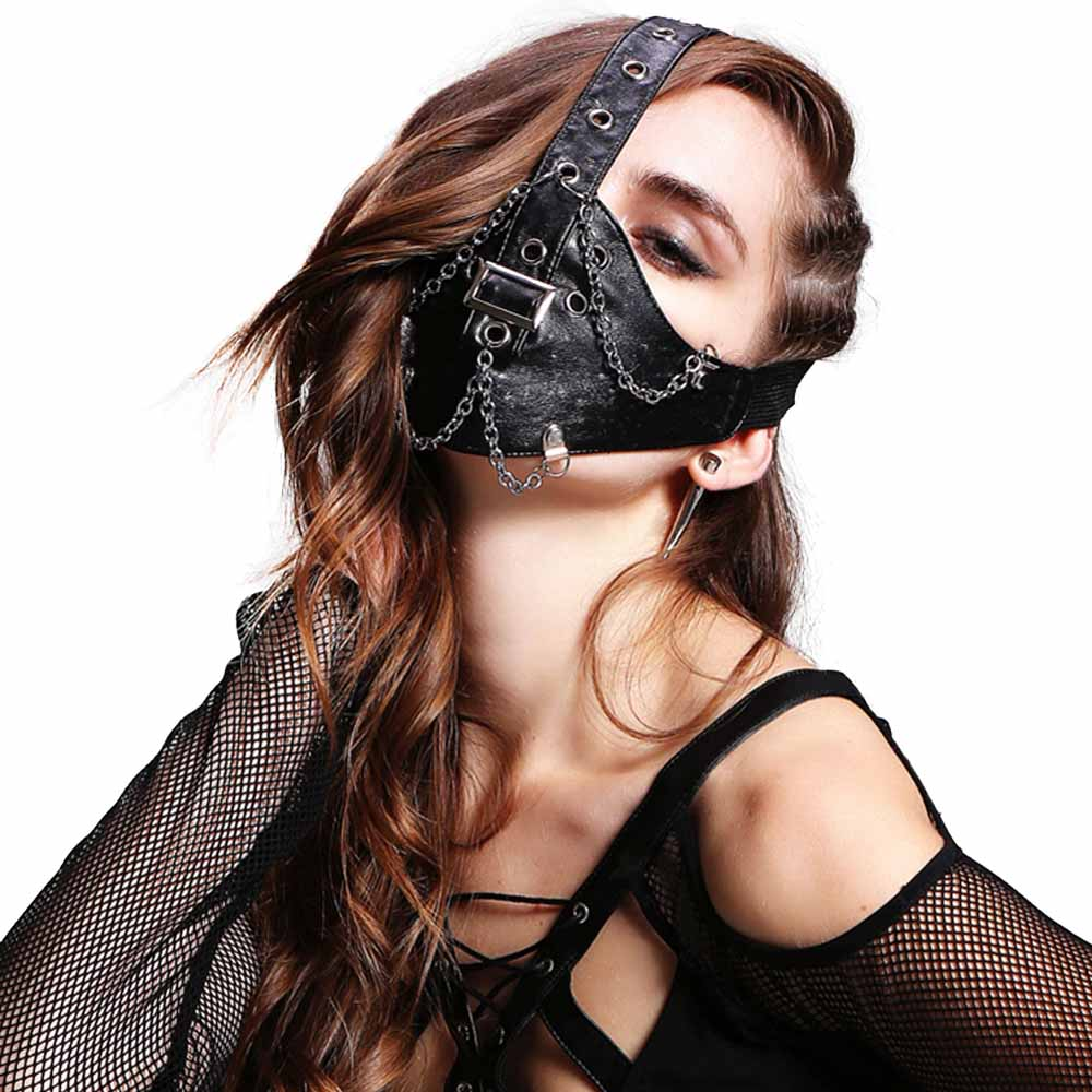 Healthsweet  1pc Personal Motorcycle Fashion Punk Rock Face Mask Halloween Cosplay Gift, Party Breathable Masks PU A380 k1x wmns майка k1x wmns basic tag wifey