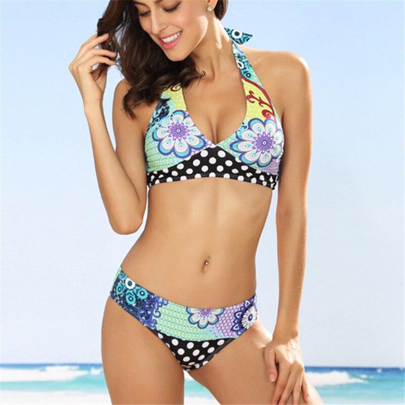 7ba7d3b0ac3f Venta caliente bikinis mujeres push-up acolchado sujetador playa Bikini Set  traje de baño mujeres ...