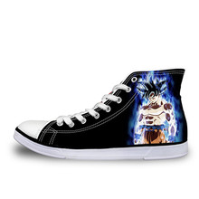 FORUDESIGNS Men Shoes Janpnese Dragon Ball Z Design Custom Printed Vulcanized Sneakers High Top Canvas Flats Shoe Anime Cosplay