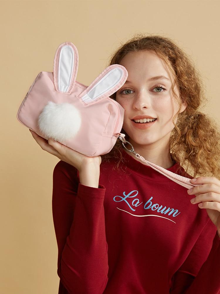Princess sweet lolita bag Lovely and fashion sweet fur ball rabbit bag female fun single shoulder slanting chain bag LLD006 цена 2017