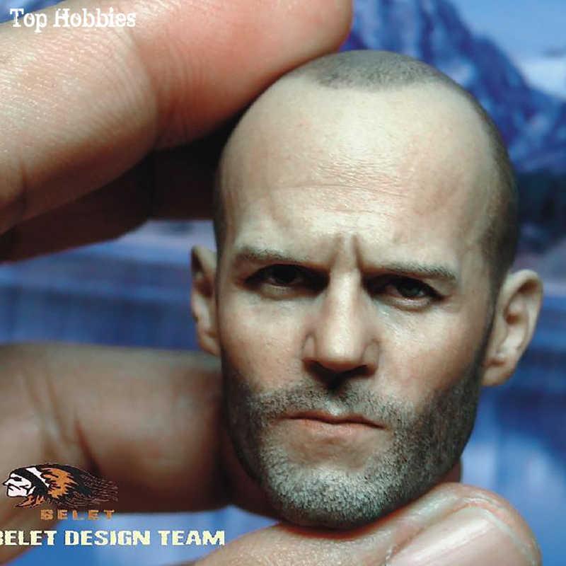 """BELET BT012 1/6th Джейсон стейтем голова ваять модель головных уборов смерти жесткая голова человека 2,0 для 12 """"Мужская мышечная фигурка тела"""