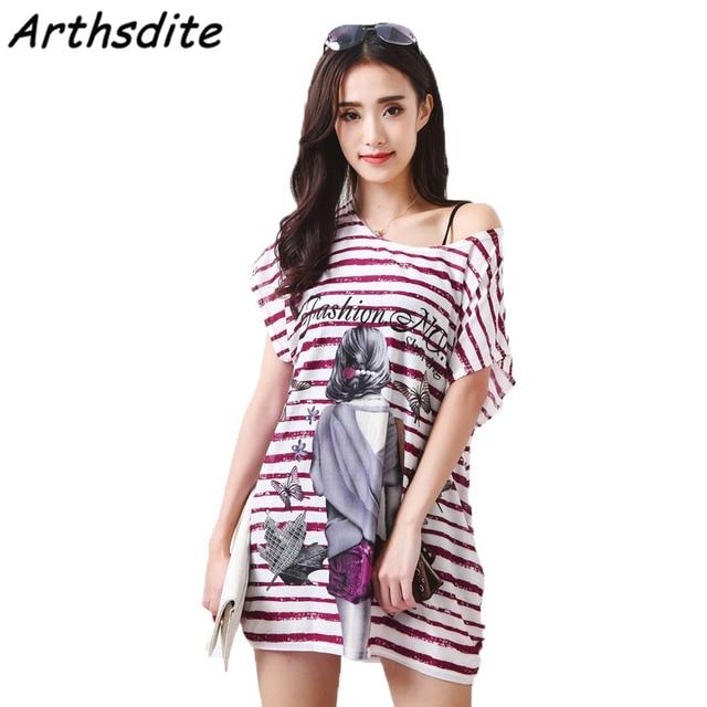 Arthsdite 2018 Retro Summer Dress Plus Size Casual Loose Floral Print Party Beach  Dresses Tunic Bohemian Vestidos Women Clothing 2272258c63f5