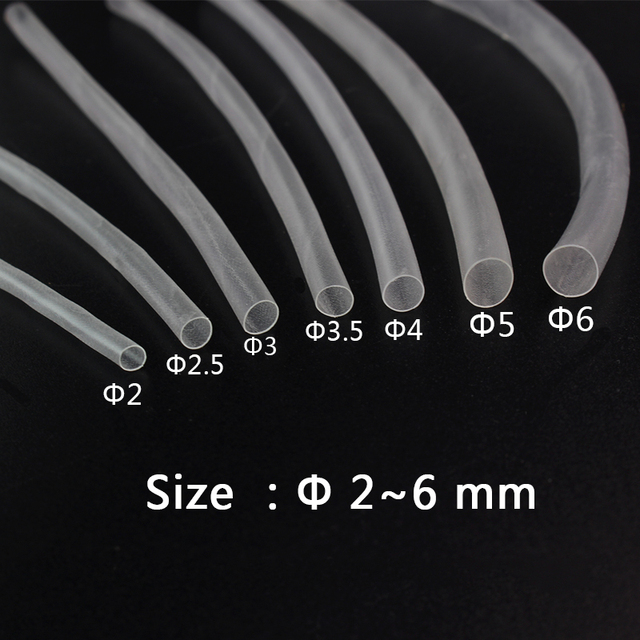 25Mm Ultra Thin Transparent Clear Heat Shrink Tube Shrinkable Cable Tubing Insulation -7638