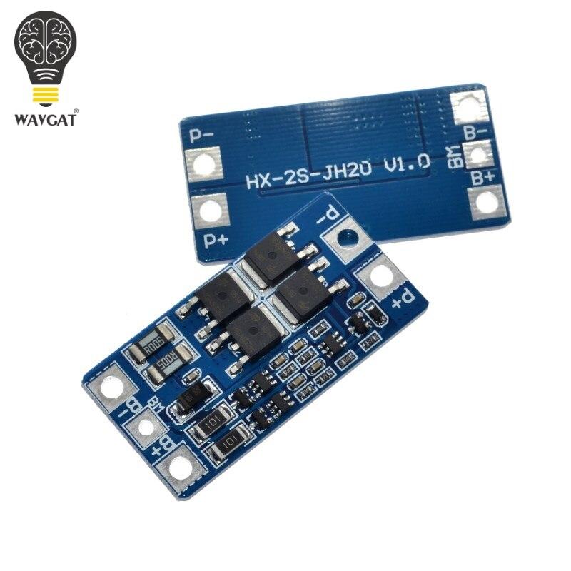 Wavgat 2 S 10A 7.4 В 18650 литиевая батарея охраны доска 8.4 В сбалансированный функцию/переплачивает защиты